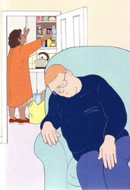 """It was clear he couldn't stay at home on his own"" (image taken from ""Am I going to die?"") NB Link ""Am I going to die"""